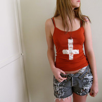 Inverted Cross Tank by inzoopsia on Etsy
