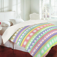 Romi Vega Pastel Pattern Duvet Cover