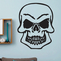 Skull Vinyl Wall Decal - Wall Mural Decal Sticker - EMS 103