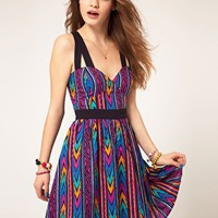 ASOS Summer Dress In Aztec Print