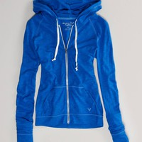 AE Jersey Zip Hoodie | American Eagle Outfitters