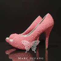 Baby Pink Mixed Pearl Luxury Prom Heels by MDNY on Etsy
