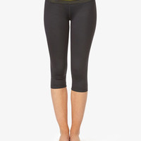 Perforated Skinny Workout Capris