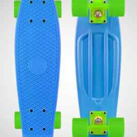 "Penny Mini Skateboards Blue/Green/Green Plastic Boards 22"" LTD"