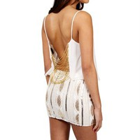 Ivory Beaded Back Top