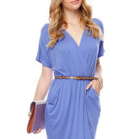 Wrap Your T-Back Dress in Periwinkle :: tobi