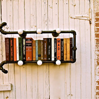 Industrial Pipe Light This Way That Way by stellableudesigns