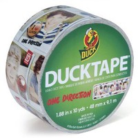 Duck Brand 281972 One Direction Printed Duct Tape, 1.88-Inch by 10-Yards, Single Roll - Amazon.com