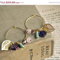 ON SALE sea breeze. summer beach earrings.