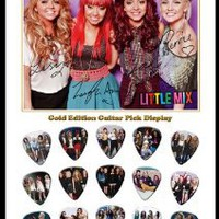 Amazon.com: Little Mix 15 Celluloid Guitar Picks Gold Display: Musical Instruments