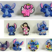 Amazon.com: Set of 8 Lilo and Stitch Shoe Sharms, Shoe Snap on Decoration, Charms, Buttoms, Widgests, for Clogs, Crocs, and Bracelets: Toys & Games