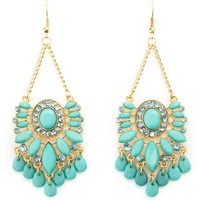 Deco Gemstone Dangle Earrings: Charlotte Russe