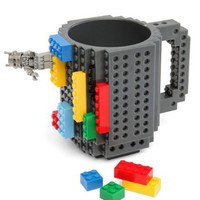 Build-On Lego Brick Mug - BPA-free 12oz Coffee Mug