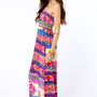 Gypsy Junkies Talulah Strapless Print Maxi Dress