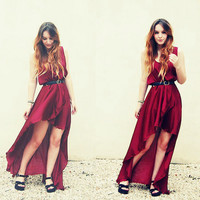 Front short back long dress 3 colors [25]