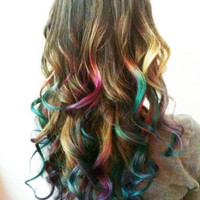B O L D or pastel colored human hair extension/ by LawlessANDlulu