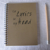 the lyrics in my head  5 x 7 journal by JournalingJane on Etsy