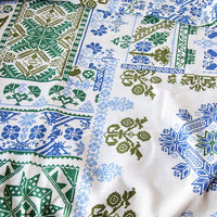 Vintage Twin Bedspread Cross Stitch Pattern