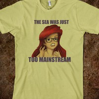 Hipster Ariel - Carr's - Skreened T-shirts, Organic Shirts, Hoodies, Kids Tees, Baby One-Pieces and Tote Bags
