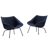 Pair Of Rare Cees Braakman 1955 Easy Chairs For Pastoe