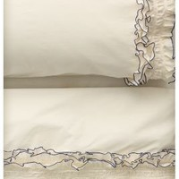 Ruffled Sheet Set, Cream-Anthropologie.com