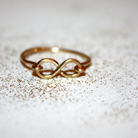 gold amare - 14k gold infinity ring by lilla stjarna - gifts under 50 - stack stacking layering ring - infinity jewelry, thin infinity ring