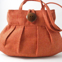 orange small and sexy bag purse handbag by daphnenen on Etsy