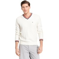 PIQUE VNECK SWEATER | Tommy Hilfiger USA