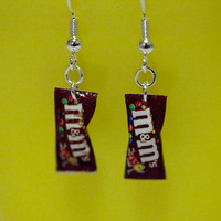 Kawaii Miniature Food Earrings - MINI M&M