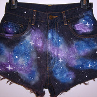 Galaxy Shorts MADE TO ORDER by BohoJane on Etsy