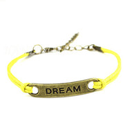 Bronze Deam Bracelet Simple Series Bracelet Yellow Bracelet Personalized Bracelet -N1121
