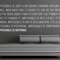 Impossible is Nothing decal for housewares - 94.5 x 35.4 inches