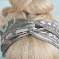 Desert Print Twisted Headband