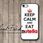 Keep Calm And Eat Nutella iPhone 5 Case, iPhone Case, Case for iPhone 5, iPhone 5 Cover, iPhone Hard Case