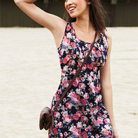 Crochet Trim Floral Dress