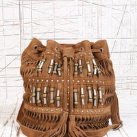 Deena & Ozzy Suede Beaded Duffle Bag at Urban Outfitters