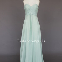 2013 style Chic Simple Chiffon Long prom dresses