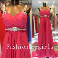 New Style Elegant A-line Floor Length Prom Evening Dresses