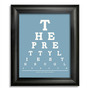 Marina And The Diamonds Eye Chart, The Pretty Lies The Ugly Truth, 8 x 10 Giclee Print BUY 2 GET 1 FREE