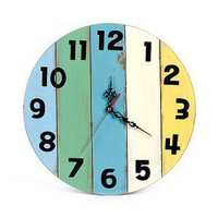 Original Round Wood Wall Clock for Bedroom - Eco-friendly