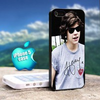 Harry Styles One Direction - Design For iPhone 5 Black Case