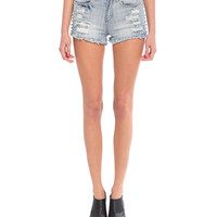 Distressed Spikes Denim Shorts - 2020AVE