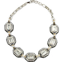 Judith Leiber - Swarovski Crystal &amp; Enamel Collar Necklace