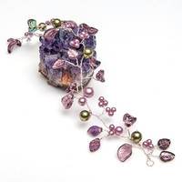 Purple Hair Vine,  Flower Head Piece, Wedding Accessories,  Bridal Hair Accessories
