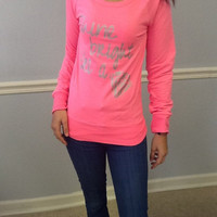 Drop Shoulder Long Sleeve Tee- Shine Bright Like A Diamond