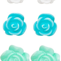 Rose Bud Earring Set
