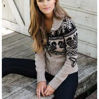 FAIR ISLE PRINT SWEATER