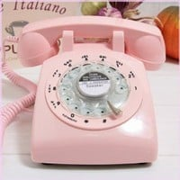 Amazon.com: Pink Retro Old Fashioned Rotary Dial Telephone: Electronics