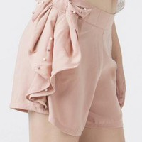 Pink Shorts - oversized bow shorts in pink | UsTrendy