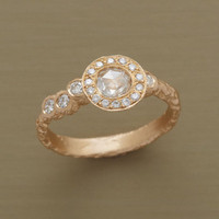 ASYMMETRY DIAMOND RING